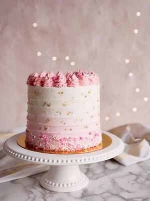 Ombre Sprinkles Cake