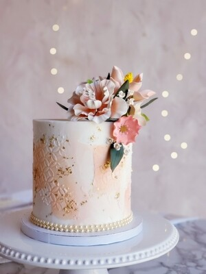 Abstract Floral Cake