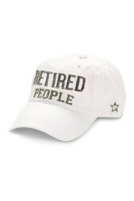 WP - Retired People Hat - White