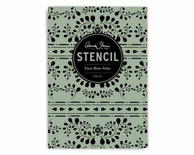 Stencil ( 2 x A3, 1 X A4) Design Faux Bone Inlay - Annie Sloan