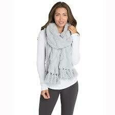 CozyChic Cable Scarf - Ocean - Barefoot Dreams