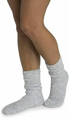 CozyChic Womens Heathered Socks - Blue Water/White - Barefoot Dreams