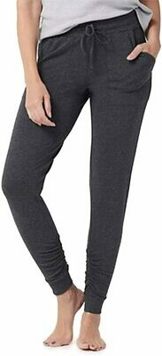 MC Luxe Lounge Scrunch Jogger - Large - Heathered Carbon- Barefoot Dreams