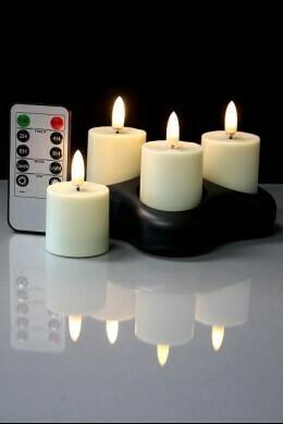 Radiance Rechargeable Votive Lights Set Of 4 - The Light Garden