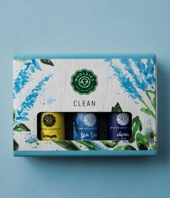 Clean Gift Set Set Of 3 Essential Oils - Woolzies