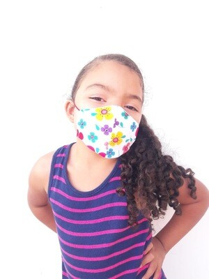 MYO Mascarilla de tela y material quirurjico para niña 4-6 años