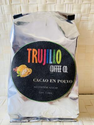 Trujillo Coffee CO. 1 libra de cacao Gourmet en polvo no contiene azúcar