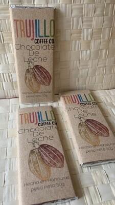 Trujillo coffee Co. Barra de chocolate con leche Gourmet  con cacao nibs