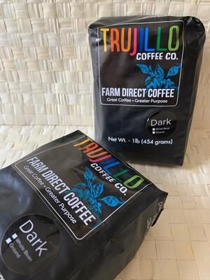 Trujillo Coffee CO. 1 libra de café Gourmet de tueste oscuro molido