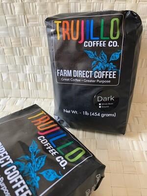 Trujillo Coffee Co. 1 libra de café en grano Gourmet Tueste oscuro