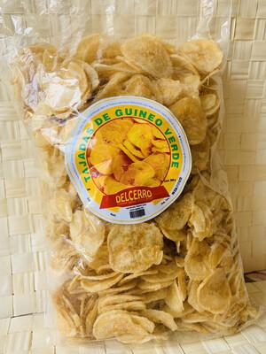Del Cerro Tajaditas Gourmet de Guineo Verde 454 gramos