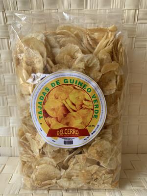 Del Cerro Tajaditas Gourmet de Guineo Verde 280 gramos