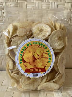 Del Cerro Tajaditas Gourmet de Guineo Verde 170 gramos