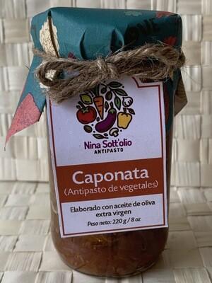 Nina Sott'olio Antipasto Caponata antipasto de vegetal 220 g / 8 oz