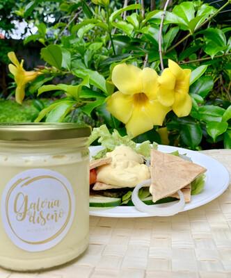 La Gale Nueva! Mayonesa Gourmet 100% natural con aceite de oliva puro y huevos organicos frasco de 9 onzas-266ml,  0 preservantes