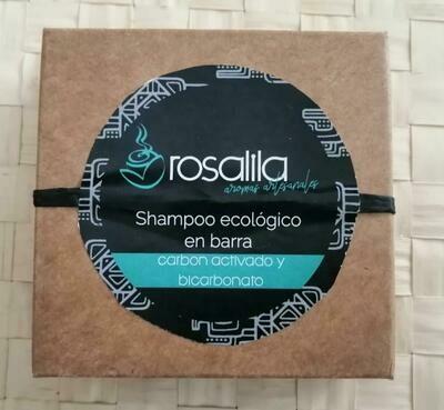 Rosalila Shampoo Ecologico en Barra de Carbón Activado y Bicarbonato