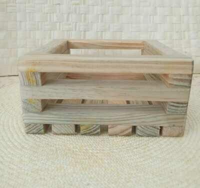 Rustic Patio Cajas de madera.