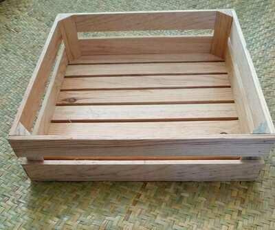Rustic Patio Caja de madera.