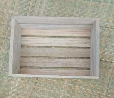 Rustic Patio Caja Rectangular De Madera De Pino Curado