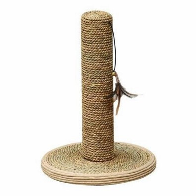 PetPals Group Seagrass Scratch Post with Toy