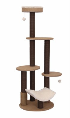 PetPals Group Multi Level Cat Tree Fleece with Scratcher