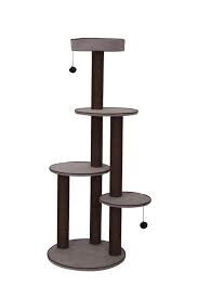 PetPals Group Cat Tree Solid Chenille with Paper Rope