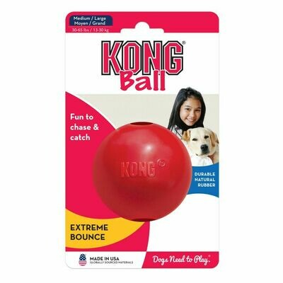 KONG BALL, MED/LRG, RED