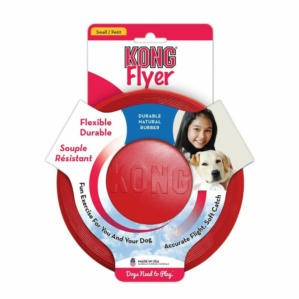KONG FLYER, SMALL, RED