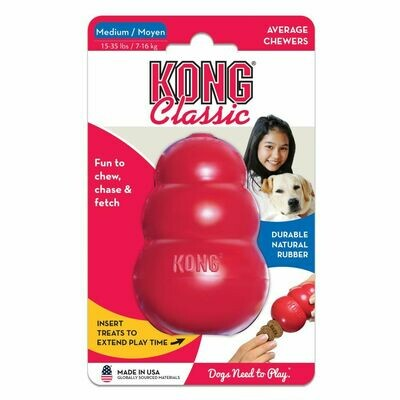 KONG CLASSIC, MED, RED