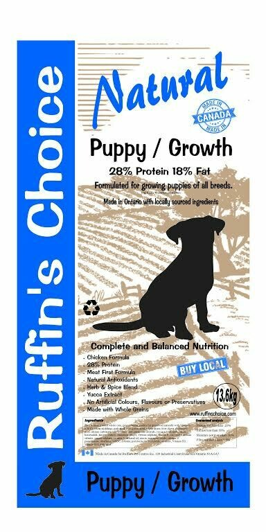 RUFFIN'S CHOICE PUPPY / GROWTH 13.6Kg