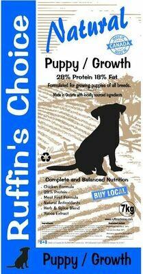 RUFFIN'S CHOICE PUPPY / GROWTH 7KG