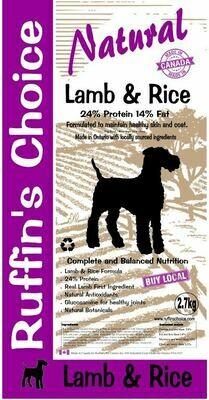 RUFFIN'S CHOICE LAMB & RICE 2.72KG