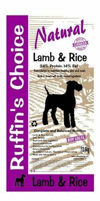 RUFFIN'S CHOICE LAMB & RICE 13.6KG