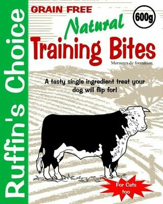RUFFIN'S CHOICE TRAINING BITES - BEEF LUNG 114g