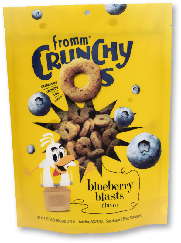 FROMM CRUNCHY O'S - BLUEBERRY BLASTS 6oz