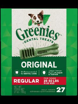 Greenies Treat Tub Pak Regular 27oz