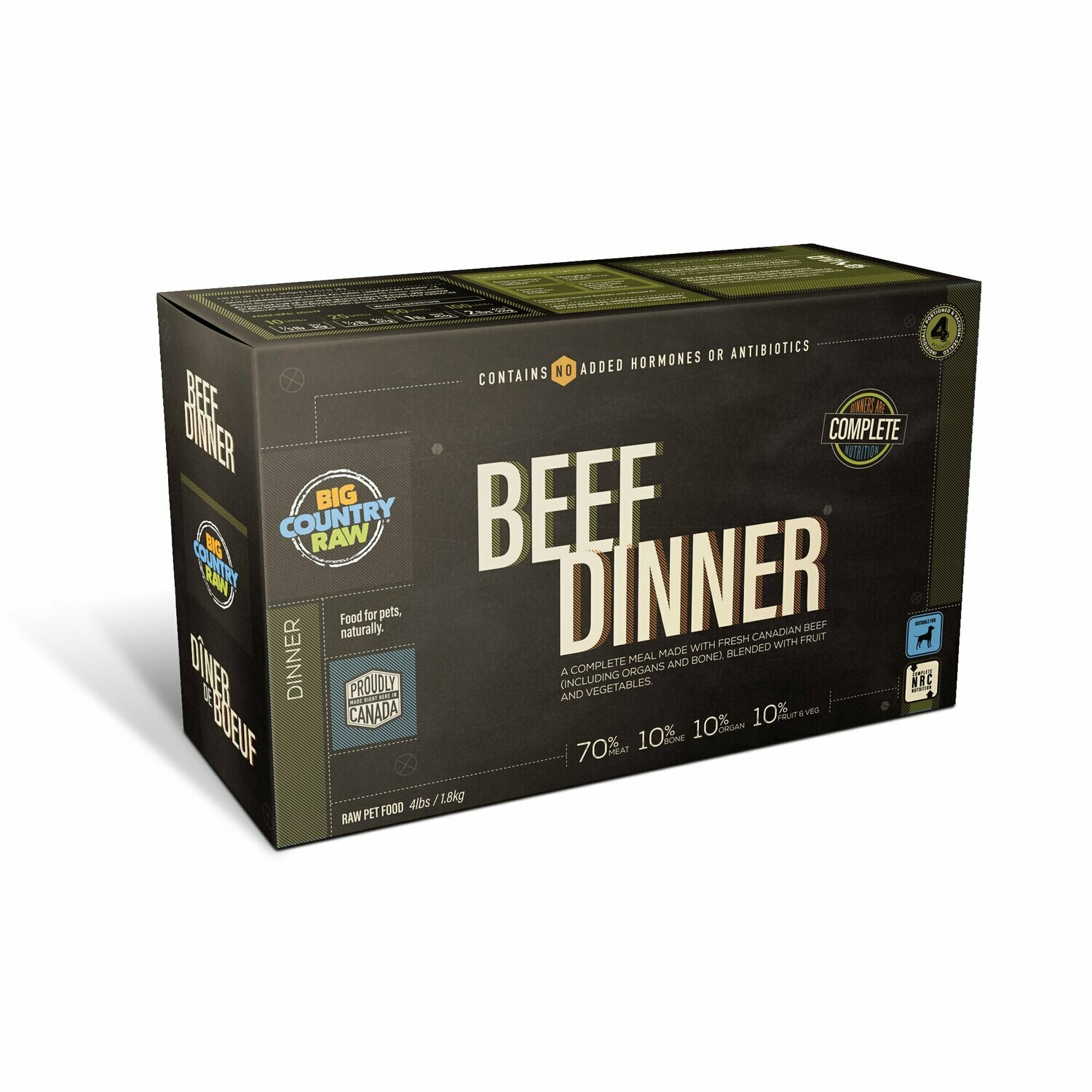 BCR BEEF DINNER CARTON 4LB