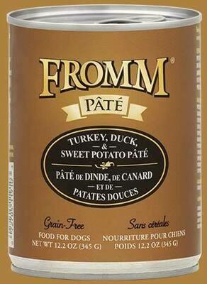 Fromm Pate Turkey Duck & Sweet Potato 12.2oz