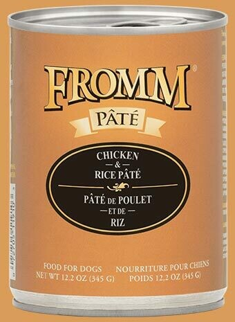 Fromm Pate Chicken & Rice 12.2oz