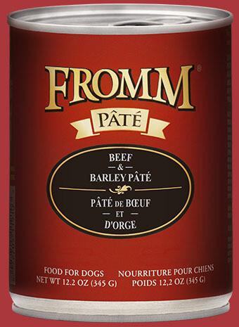 Fromm Pate Beef & Barley 12.2oz