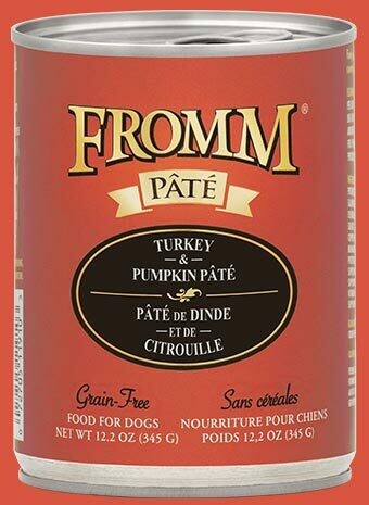 Fromm Pate Turkey & Pumpkin 12.2oz
