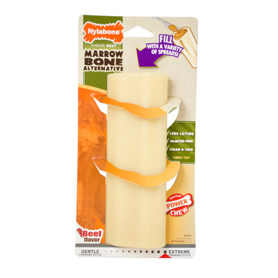 NYLABONE DURACHEW MARROW BONE - BEEF LARGE/GIANT