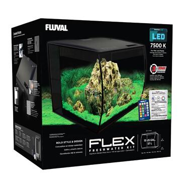 FLUVAL FLEX AQUARIUM KIT - 15 GALLON BLACK