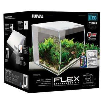 FLUVAL FLEX AQUARIUM KIT - 9 GALLON WHITE