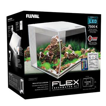 FLUVAL FLEX AQUARIUM KIT - 15 GALLON WHITE