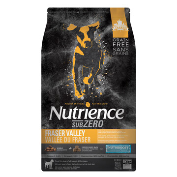 NUTRIENCE GRAIN FREE SUBZERO - FRASER VALLEY 10KG
