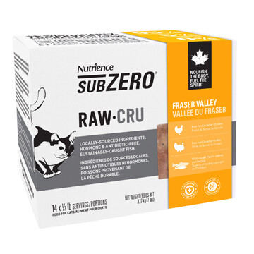NUTRIENCE SUBZERO RAW FOR CATS - FRASER VALLEY 7LB