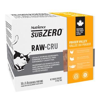 NUTRIENCE SUBZERO RAW FOR CATS - FRASER VALLEY 7LB