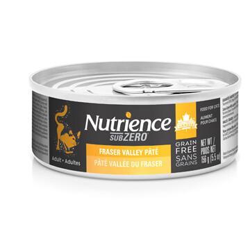 NUTRIENCE GRAIN FREE SUBZERO PATE - FRASER VALLEY 5.5OZ