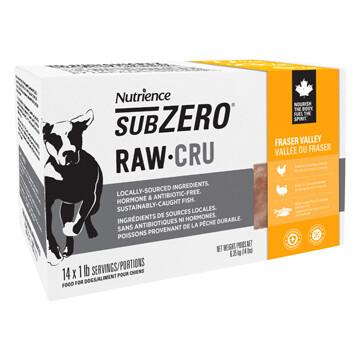 NUTRIENCE SUBZERO RAW - FRASER VALLEY 14LB